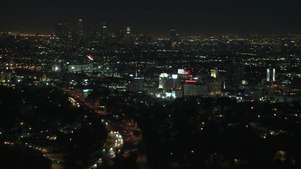 Thumbnail for Los Angeles Traffic At Night 2