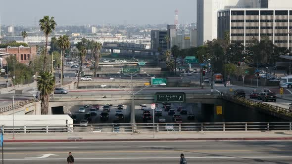 Thumbnail for Overpass On The 101 Freeway In Downtown Los Angeles 1