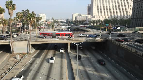 Thumbnail for Overpass On The 101 Freeway In Downtown Los Angeles 2