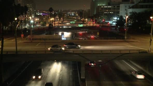Los Angeles Traffic At Night 5
