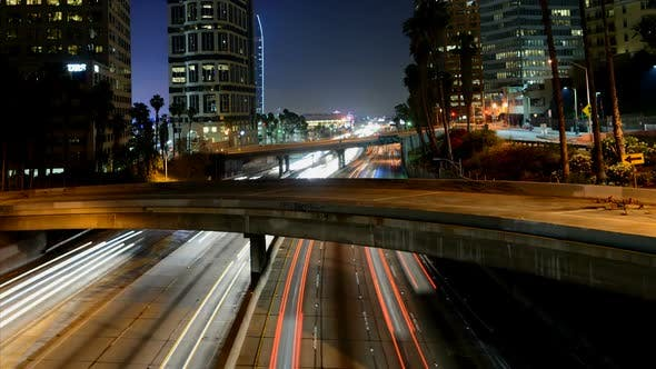 Cover Image for Traffic In Downtown Los Angeles At Night 1