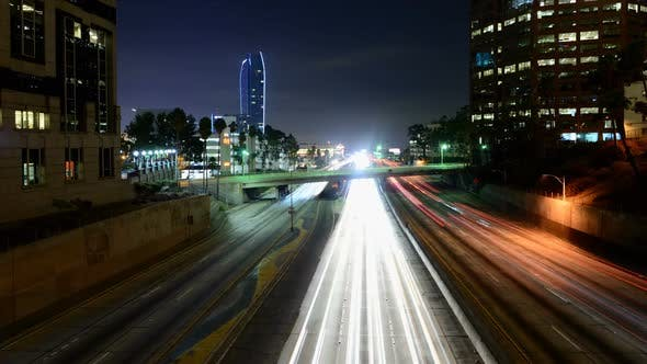 Thumbnail for Traffic In Downtown Los Angeles At Night 10