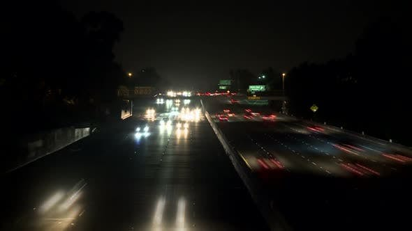 Thumbnail for Los Angeles Traffic At Night 8