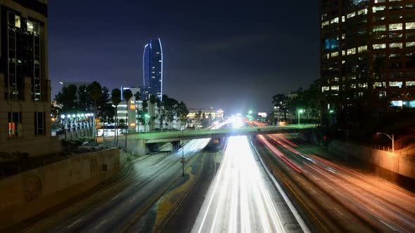 Thumbnail for Traffic In Downtown Los Angeles At Night 9