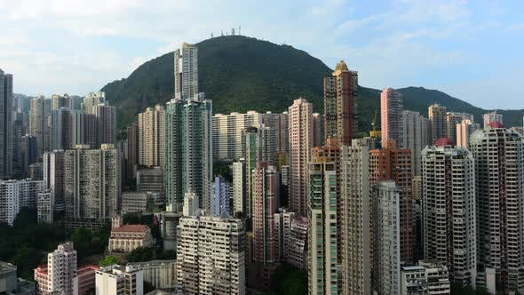 Cover Image for Clouds Over Hong Kong Skyline And Victoria Peak - Hong Kong China