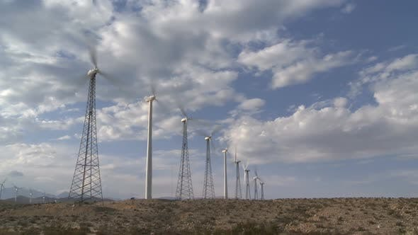 Thumbnail for Power Windmills In The California Desert At Sunset 1