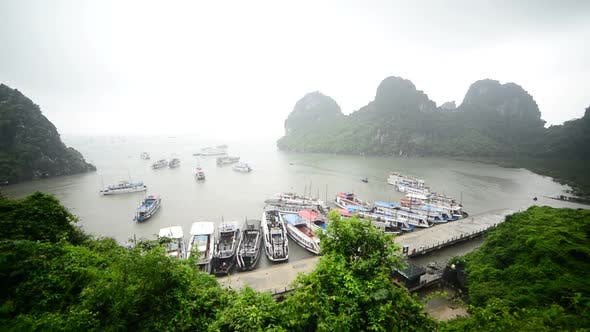 Thumbnail for Tourist Boats Dock At Island Bay  - Ha Long Bay Vietnam 1
