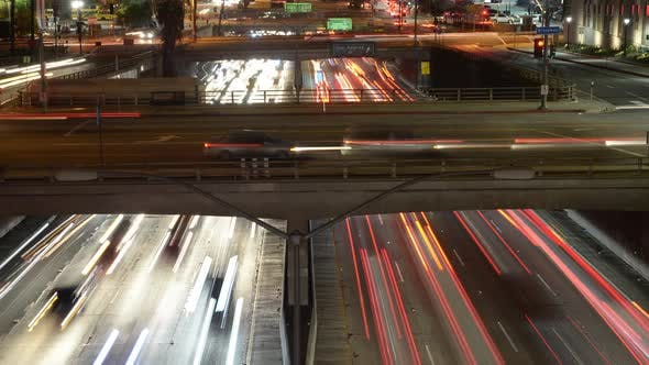 Cover Image for Traffic On Busy 10 Freeway In Downtown Los Angeles California 14