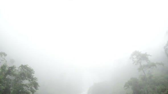 Thumbnail for Raging Waterfall To Fog During Rainstorm - Sapa Vietnam