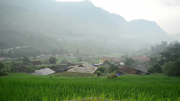 Thumbnail for Farm House With Rice Terraces In Green Valley -  Sapa Vietnam