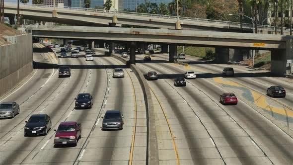 Cover Image for View Of Traffic On Busy 10 Freeway In Downtown Los Angeles 1
