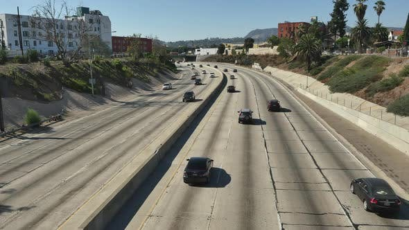 Thumbnail for View Of Traffic On Busy 10 Freeway In Downtown Los Angeles 3
