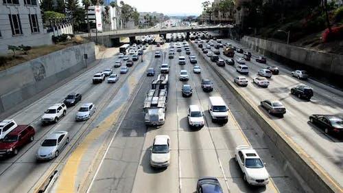 Traffic Jam In Downtown Los Angeles 9