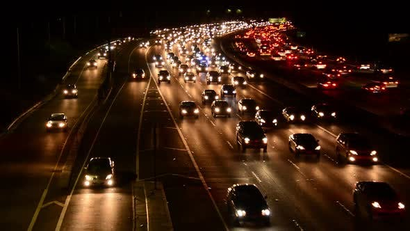 Thumbnail for Evening Rush Hour Traffic On Busy Freeway In Los Angeles 3