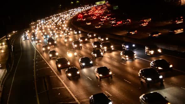 Thumbnail for Evening Rush Hour Traffic On Busy Freeway In Los Angeles 4