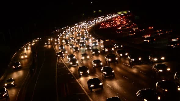 Thumbnail for Evening Rush Hour Traffic On Busy Freeway In Los Angeles 5