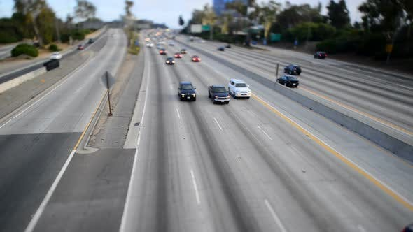 Thumbnail for Traffic On Busy Freeway In Los Angeles