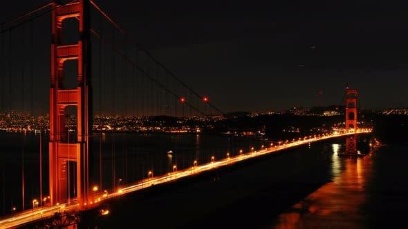 Thumbnail for Golden Gate Bridge At Night -2