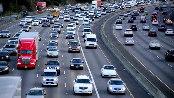 Thumbnail for Rush Hour Traffic On Busy Los Angeles Freeway 2