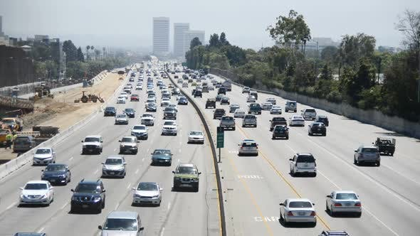 Thumbnail for Traffic On Busy Freeway In Los Angeles 10