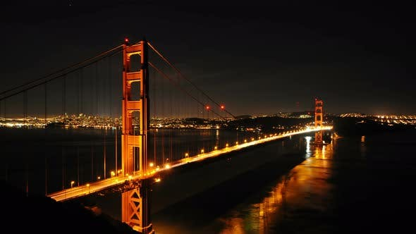 Cover Image for Golden Gate Bridge At Night - 3
