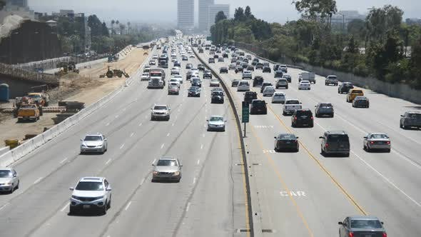 Thumbnail for Traffic On Busy Freeway In Los Angeles 12