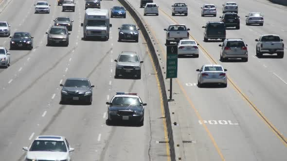 Thumbnail for Traffic On Busy Freeway In Los Angeles 14