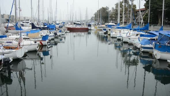 Cover Image for Boats In Marina Del Ray California 1