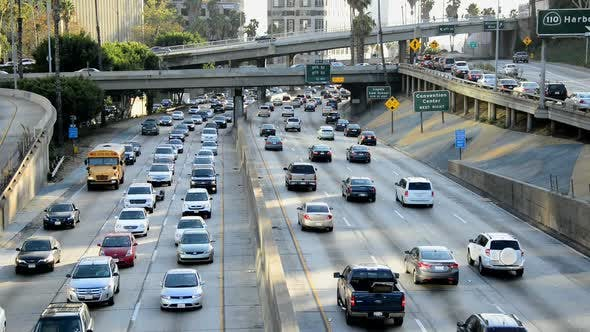 Thumbnail for Traffic On Busy Freeway In Los Angeles 16