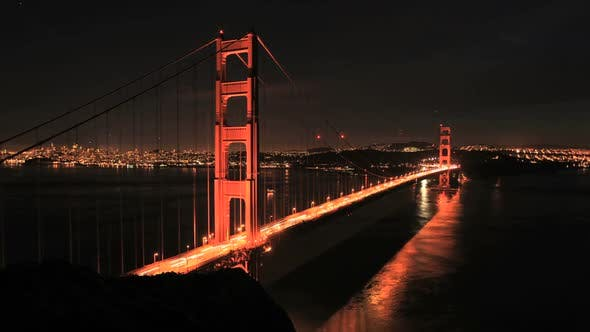 Thumbnail for San Fran Between Golden Gate Bridge Sunset - Clip 3