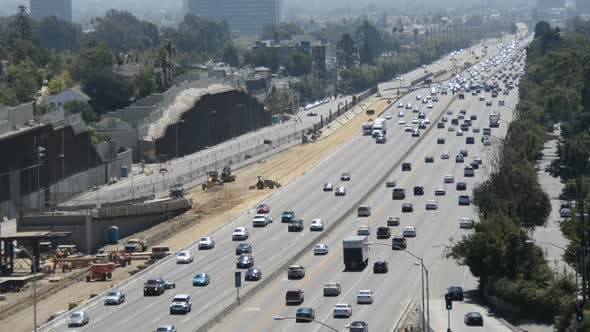 Thumbnail for Traffic On Busy Freeway In Los Angeles 4