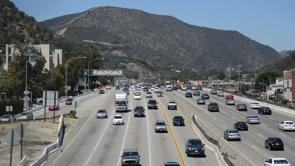Thumbnail for Traffic On Busy Freeway In Los Angeles 6