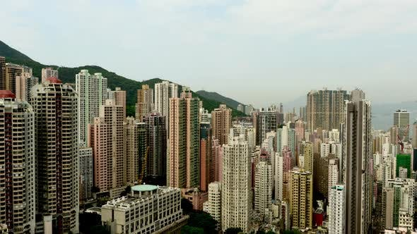 Thumbnail for Clouds Over Hong Kong Skyline - Hong Kong China 1