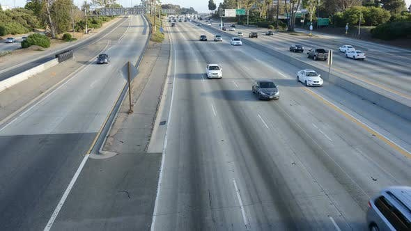 Thumbnail for Traffic On Busy Freeway In Los Angeles 1
