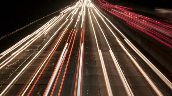 Cover Image for Traffic On The Busy Freeway At Night - 3