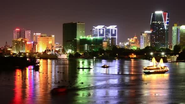 Thumbnail for Scenic Ho Chi Minh City (Saigon) Skyline At Night - Vietnam 10