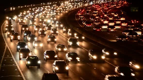 Cover Image for Evening Rush Hour Traffic In Los Angeles 5