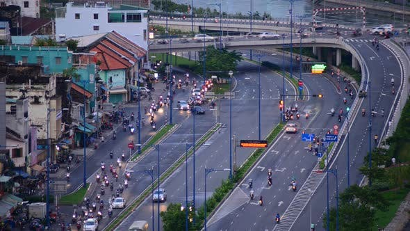 Thumbnail for Traffic On Busy Street In Downtown Ho Chi Minh City Vietnam 1