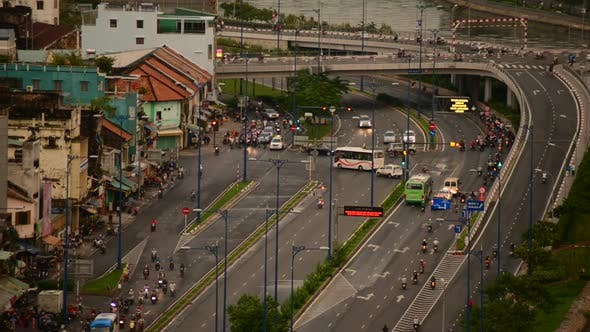 Thumbnail for Traffic On Busy Street In Downtown Ho Chi Minh City Vietnam 2