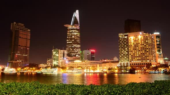 Thumbnail for Scenic Ho Chi Minh City (Saigon) Skyline At Night - Vietnam 18