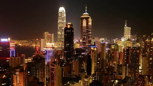 Thumbnail for Hong Kong Skyline And Victoria Harbour At Night 1