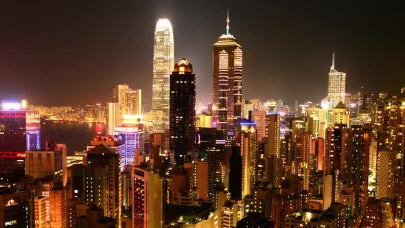 Thumbnail for Hong Kong Skyline And Victoria Harbour At Night 2
