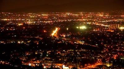 Overhead Shot Of Los Angeles