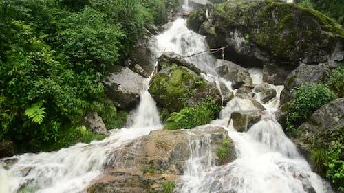 Raging Waterfall During Rainstorm - Sapa Vietnam 13
