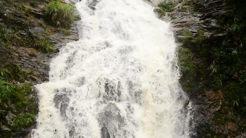 Raging Waterfall During Rainstorm - Sapa Vietnam 4