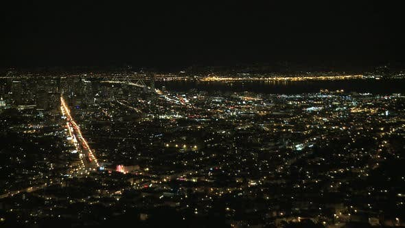 Cover Image for Night View Of San Francisco Bay - Clip 1