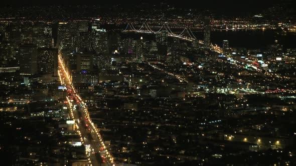 Thumbnail for Night View Of San Francisco Bay- Clip 3