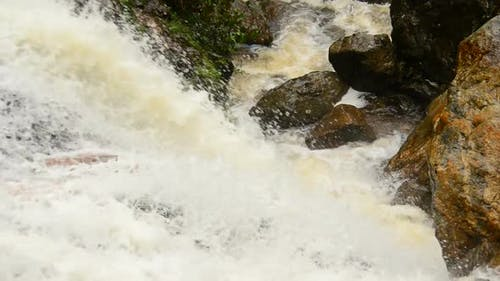 Raging Waterfall During Rainstorm - Sapa Vietnam 7