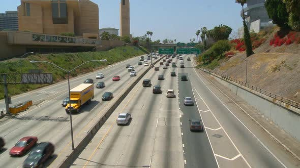 Thumbnail for Freeway Traffic In Downtown Los Angeles 3