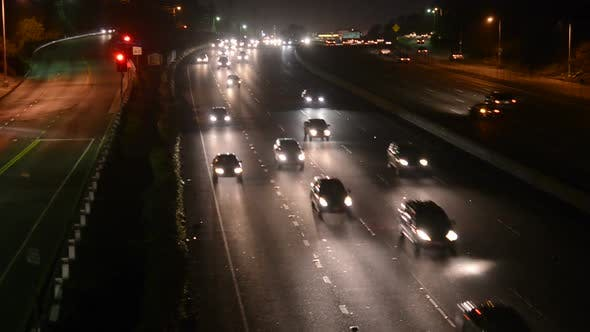 Cover Image for Busy Freeway Traffic In Los Angeles 1
